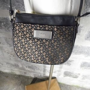 DKNY navy blue signature cross body shoulder purse